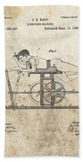 First Exercise Machine Patent Beach Towel