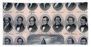 First Hundred Years Of American Presidents Beach Towel