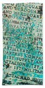 First Infantry Division Memorial Plaque Beach Towel