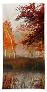 First Light At The Pine Barrens Beach Towel