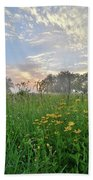 First Light In Glacial Park Beach Towel