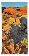 First Light On Valley Of Fire State Park Beach Towel