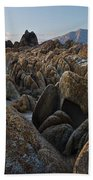 First Light Over Alabama Hills California Beach Towel