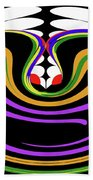 First Move Abstract Beach Towel