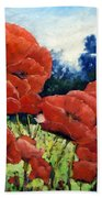 First Of Poppies Beach Towel