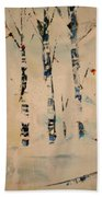 First Snow Central Park Beach Towel