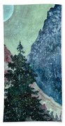 First Snowfall Beach Towel
