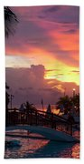 First Sunset In Negril Beach Towel