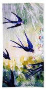 First Swallows Of Summer  Beach Towel