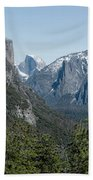 First View Of Yosemite Valley Beach Towel