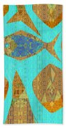 Fish And Loaves Beach Towel