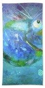 Fish Blue Beach Towel
