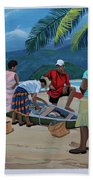 Fish For Supper Beach Towel