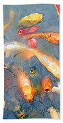 Fish In A Lake Beach Towel
