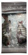 Fish Market Beach Towel