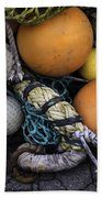Fish Netting And Floats 0129 Beach Towel