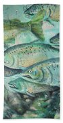 Fish On The Wall Beach Towel