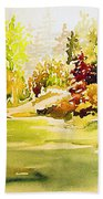 Fish Pond At Nutimik Lake Manitoba Beach Towel