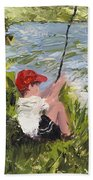 Fisher Boy Beach Towel