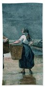 Fisher Girls By The Sea Beach Towel by Winslow Homer