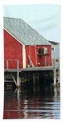 Fishermans House On Peggys Cove Beach Towel