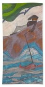 Fishing At The Cove Beach Towel