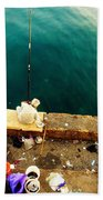 Fishing Beirut  Beach Towel