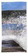 Fishing Beyond The Surf Beach Towel by Terri Waters