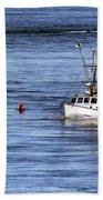 Fishing Boat Return Beach Towel