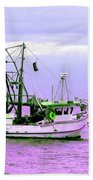 Fishing Boats At Pearl Beach 1.0 Beach Towel