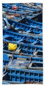 Fishing Boats In Morocco Beach Towel