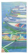 Fishing Boats Beach Towel