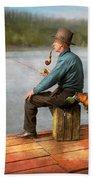 Fishing - Booze Hound 1922 Beach Towel