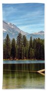 Fishing By Mount Lassen Beach Towel