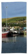 Fishing Fleet At Dingle, County Kerry, Ireland Beach Towel