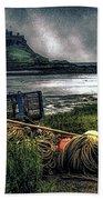 Fishing Gear At Lindisfarne. Beach Towel