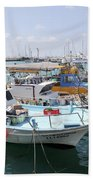 Fishing Industry In Limmasol Beach Towel