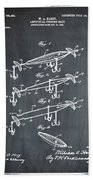 Fishing Lure Patent 1904 Chalk Beach Towel