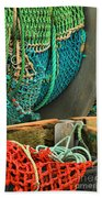 Fishing Net Portrait Beach Towel