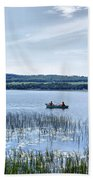 Fishing On Lake Carmi Beach Towel