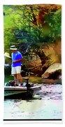 Fishing On Saguaro Lake In Arizona Beach Towel