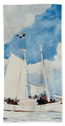 Fishing Schooner In Nassau Beach Towel
