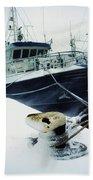 Fishing Trawler, Howth Harbour, Co Beach Towel