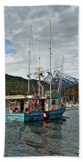 Fishing Vessel Chinak Beach Towel