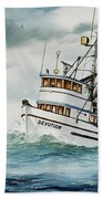 Fishing Vessel Devotion Beach Towel