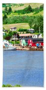 Fishing Village In Prince Edward Island Beach Towel