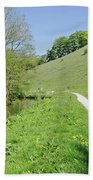 Fishpond Bank At Wolfscote Dale Beach Towel