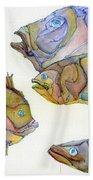 Five Fading Fish Beach Towel