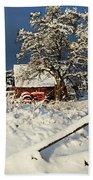 Five Mile Winter's Barn #9862 Beach Towel