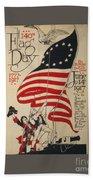 Flag Day 1917 Beach Towel